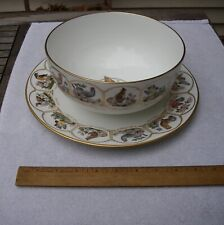Fine BOEHM Porcelain SERVING BOWL & PLATE-BIRDS & FLOWERS-200th Ann Constitution