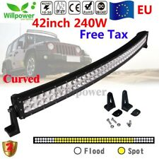 Curved 42inch 240W LED barra de luz trabajo Spot Flood Combo Light Bar camión