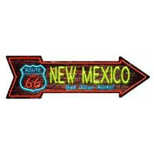 """Outdoor/Indoor Neon Route 66 New Mexico Novelty Metal Arrow Sign 5"""" x 17"""""""