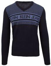 CALVIN KLEIN JEANS Herren Pullover Men Sweater V-Ausschnit V-Neck Schurwolle NEU