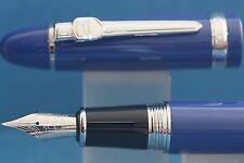 Jinhao Oversize No. 159 Medium Fountain Pen, Blue with Chrome Trim
