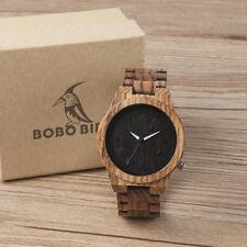 BOBO BIRD M30 Hot Men's Wooden bamboo Watch Business with Exquisite Zebra Shell
