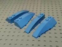 Lego 2 wings dark blue//2 dark blue wing//feather w 70124 70007 70142 70139