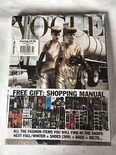 Rare,, New, Sealed Vogue Italia August + Shopping Supplement, Stella Tennant