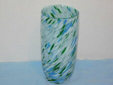 Rosenthal Studio Linie Moderist Swirl Art Glass Vase Green Blue White Germany
