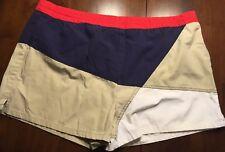 Rare Men's Vtg 1970s Shorts Swim Trunks Freestyle Red Blue Khaki Large