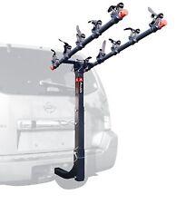 "5 Bike Hitch Mount Rack Black 2"" Receiver Car Truck Racks Steel Construction New"
