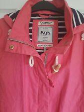 Joules Right as Rain Pink Raincoat UK 14