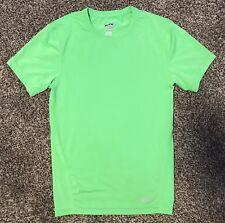 Eastbay Men's Shirt Med Lime Green Shirt Compression Short Sleeve Crew M