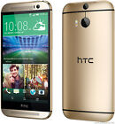 """HTC One M8 4G LTE 32GB 2GB RAM 5"""" Android GPS NFC Libre TELEFONO MOVIL Oro Gold"""