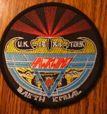 HAWKWIND sew-on PATCH Earth Ritual 1984 tour original UK woven VINTAGE