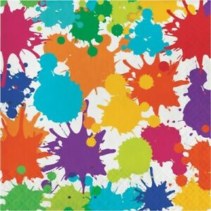Art Party Lunch Napkins Paper 16 Pack Painting Birthday Paint Party Tableware