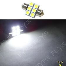 1 White 31mm 6SMD festoon dome map interior LED light lamp DE3175 3022 3021 1xC1