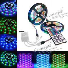 10M 600LEDS 3528 SMD RGB 2X5M Flexible LED Lights Strips DC12V+44Key IR Remote
