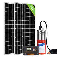 Solar Pump System Kits24v Submersible Ssteel Well Water Pump200w Solar Panel