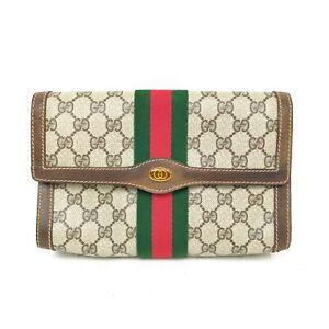 Gucci Clutch Bag  Light Brown PVC 1721892