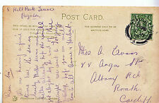 Genealogy Postcard - Family History - Evans - Albany Rd - Roath - Cardiff  A1134