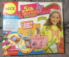 Alex Toys Silk Screen Factory Handcrafted Activity Kit 4 Inks 14 Stencils Nib 7+