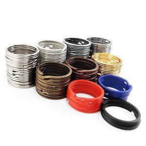 Split key rings 30 mm double loop key-ring metal clasp connect UK SELLER