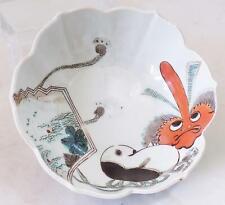 Antique Japanese Bowl Tengu DAITENGU Demon Marked Late Meji Period