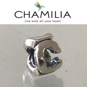 Chamilia Sterling Silver Charm Bead Initial C