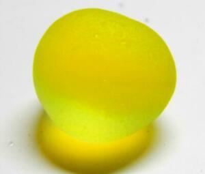 1 Multi Med Ultra Bright Neon Yellow UV JQ RARE Genuine Seaham English Sea Glass