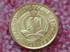 Uncirculated  Albania Socialist People's Republic 1988 1 Lek Double Head Eagle