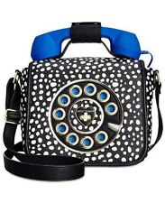 Betsey Johnson Phone Telephone Bag Kitsch Call Me Baby Shoulder BLUE NEW
