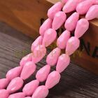 New Arrival 10pcs 16X10mm Faceted Teardrop Loose Spacer Glass Beads Pink Red