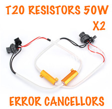 2x CANBUS T20 CAR DRL SIDELIGHTS BRAKE RESISTORS WARNING CANCELLERS BULBS 50W