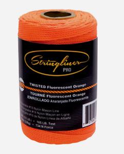 Stringliner Pro Orange Twisted CHALK LINE REFILL 540' 165 lb #18 Nylon 35406 NEW