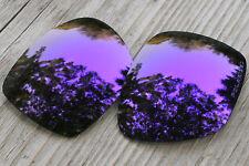 Polarized Deep Purple Mirrored Sunglass Lenses for Oakley Deviation- Grey Tint