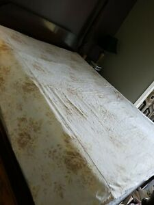 Pottery Barn Full  Duvet Cover  French Country Ivory Floral linen Cotton