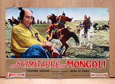 LE SCIMITARRE DEI MONGOLI fotobusta poster Mifune Saga of the Vagabonds AF17