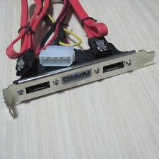 2-port 2 SATA to 2 ESATA + IDE 4pin Power host case mainboard pci rear Bracket