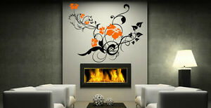 Swirly Vine Wall Sticker Flowers Large Vinyl Removable Decal for Living Room Art