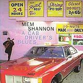 "CD:  MEM SHANNON ""A Cab Driver's Blues"" 1995 Rykodisc ~ His First Album ~ Blues"