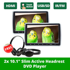 "US Eonon 2x 10.1"" LCD Screen Car Headrest DVD Player Pillow Monitor + Headset W"