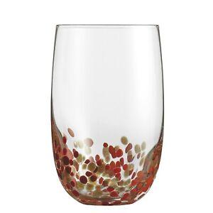Cuisinart-4 Glasses/Box- CG-S4HBRG Highball Glassware, Red