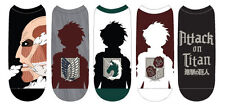 NEW Attack on Titan Low Cut Socks (5 Pairs) Size 4-10 AOT-0022 US Seller