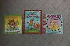 Lot of 3 Marc Brown Arthur DW Paperback Books PBS Kids Jelly Beans Picky Eater
