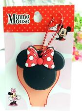 Disney minnie red bowknot silica gel Key Met Protective Cover anime key ornament