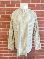 Ralph Lauren Blake Long Sleeve Button Down Shirt Mens XL 100% Cotton Yellow EUC