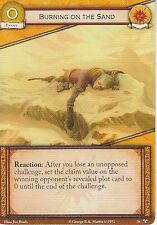 Burning on the Sand AGoT LCG 2.0 Game of Thrones There Is My Claim 76