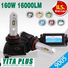 2X 9005/HB3 LED Headlights Bulbs KIT High Beam 160W 16000LM Light 6000K Xenon