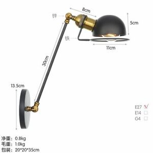 Adjustable Interior Wall Lamp Bedside Study Swing Arm Reading Light Fixtures