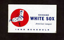 1960 American League Pocket Chicago White Sox Schedule