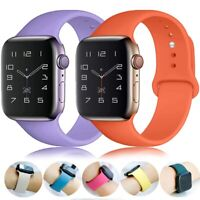 For Apple Watch band iWatch Series 6 SE 5 4 3 38/40/42/44mm SILICONE Sport Strap