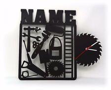 Heimwerker Handwerker Wand Uhr mit Namen lustige witzige Büro Zubehör Geschenke
