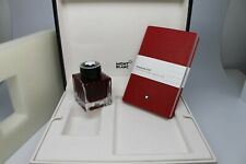 MONTBLANC RARE SET RED INK 50ML & #147 NOTEBOOK NEW IN BOX